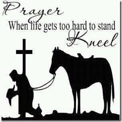 Prayer by horse