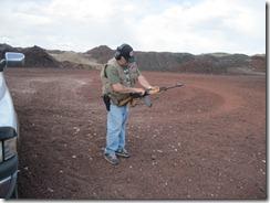 new SR trigger, Keith & I at the range 008